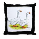 Embden Geese Throw Pillow