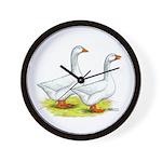 Embden Geese Wall Clock