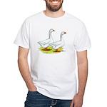 Embden Geese White T-Shirt