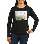 Embden Geese Women's Long Sleeve Dark T-Shirt