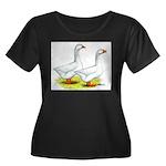 Embden Geese Women's Plus Size Scoop Neck Dark T-S