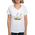 Embden Geese Women's V-Neck T-Shirt