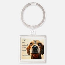 Miracles with Paws Square Keychain