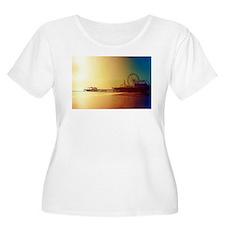 Pier Orange Sunrise Plus Size T-Shirt