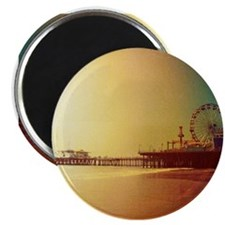 Pier Orange Sunrise Magnets