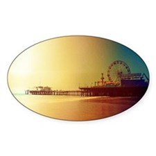 Pier Orange Sunrise Decal