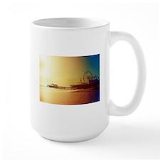 Pier Orange Sunrise Mugs