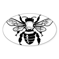 Honey Bee Oval Decal