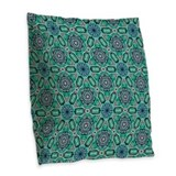 Celtic flower Burlap Pillows