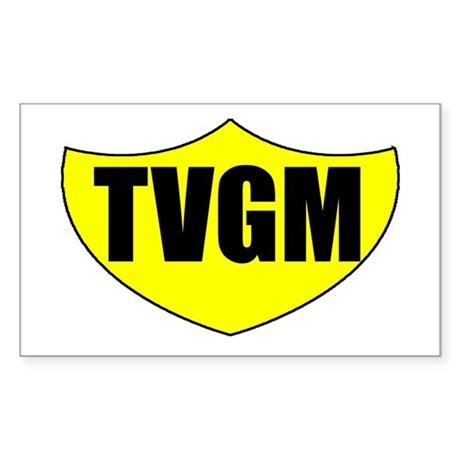 TVGM Rectangle Sticker