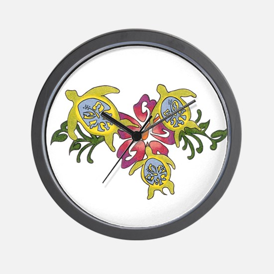 Cute Colorful turtle Wall Clock