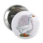 Embden Gander Button