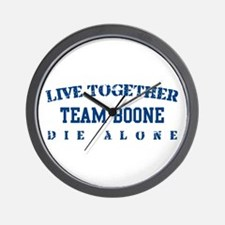 Team Boone - Live Together Wall Clock