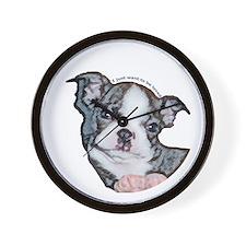 Boston Terrier Puppy Wall Clock