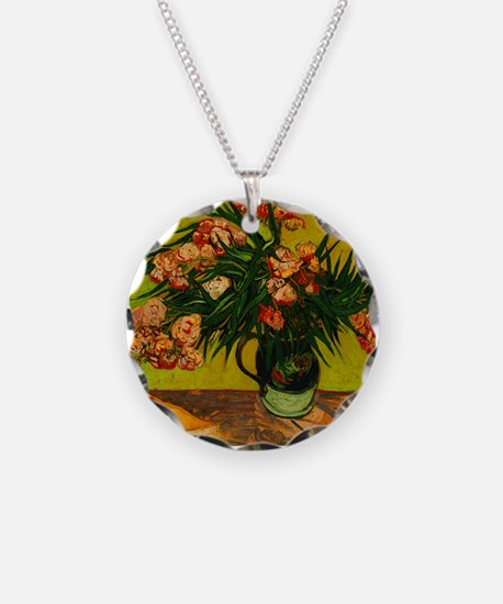 Van Gogh Vase With Oleanders And Books Necklace