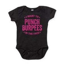Punch Burpees In The Face Baby Bodysuit