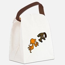 Octopi VS Platypi Canvas Lunch Bag