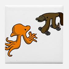 Octopi VS Platypi Tile Coaster