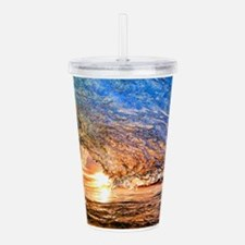 Summer Wave Acrylic Double-wall Tumbler