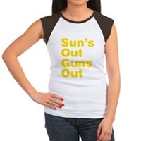 Sun's Out Guns Out Women's Cap Sleeve T-Shirt