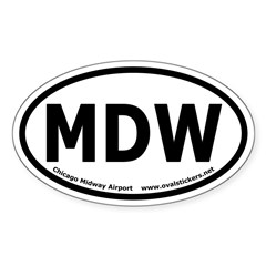 Midway Airport, Chicago Oval Decal