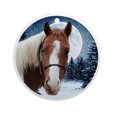 Paint Horse Winter Ornament (Round)