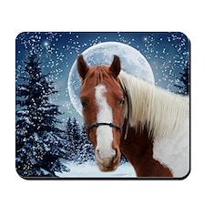 Paint Horse Winter Mousepad