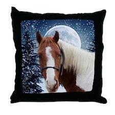 Paint Horse Winter Throw Pillow