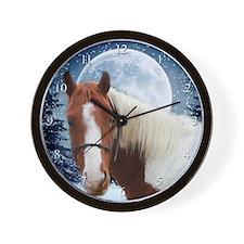 Paint Horse Winter Wall Clock