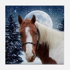 Paint Horse Winter Tile Coaster