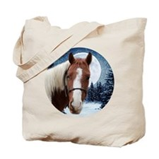 Paint Horse Winter Tote Bag