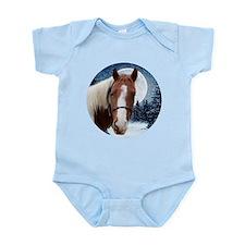 Paint Horse Winter Infant Bodysuit