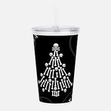 Gothic Bones Christmas Tree Acrylic Double-wall Tu