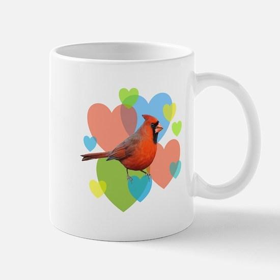 Cardinal Hearts Mug