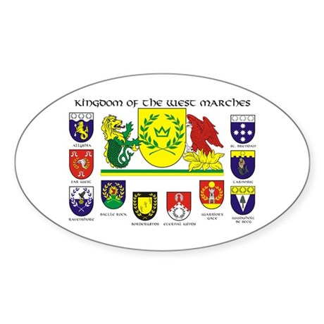 West Marches Oval Sticker