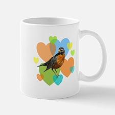 Robin Hearts Mug