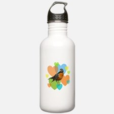 Robin Hearts Water Bottle
