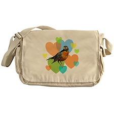 Robin Hearts Messenger Bag