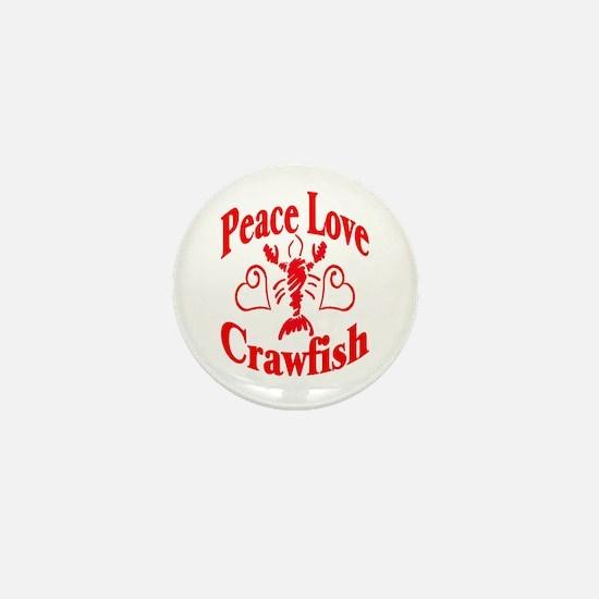 Peace Love Crawfish Mini Button