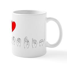 ASL I Heart Nova Scotia Mug