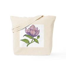 Original art - purple flower Tote Bag