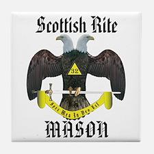 Scottish Rite Masons Tile Coaster