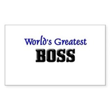 World's Greatest BOSS Rectangle Decal