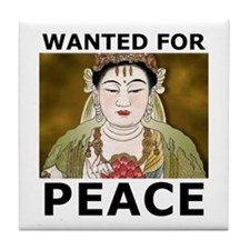 Wanted For Peace Tile Coaster
