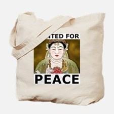 Wanted For Peace Tote Bag