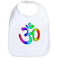 Rainbow Om Bib