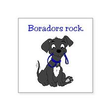 """Boradors rock - designer do Square Sticker 3"""" x 3"""""""