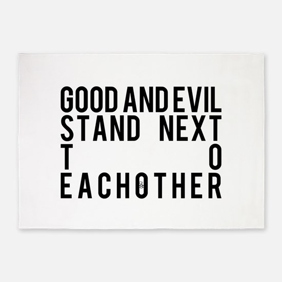 Good and Evil Stand Next To Each ot 5'x7'Area Rug