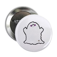 Happy Chubby Ghost Button