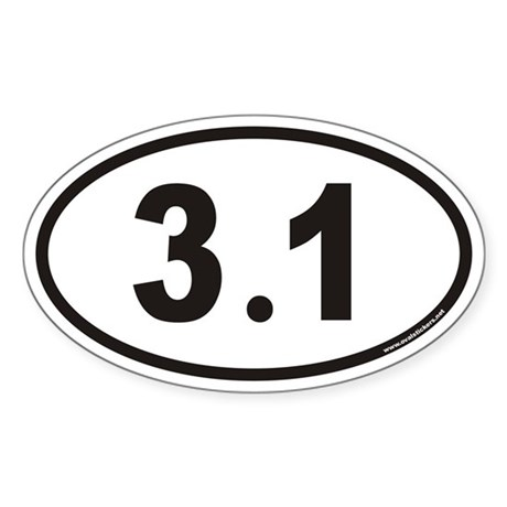 3.1 Euro Oval Sticker